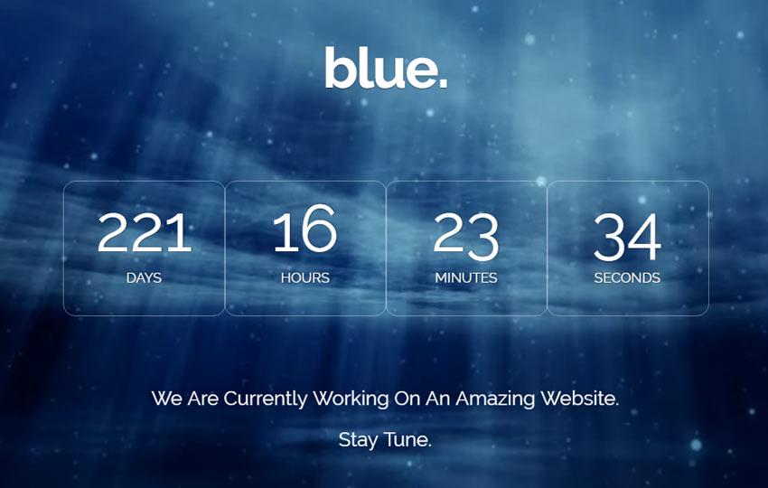 Bootstrap Coming-soon Free Template - WebThemez