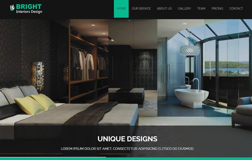 Bright Interior Design Bootstrap Responsive Web Template - WebThemez - interior design web template