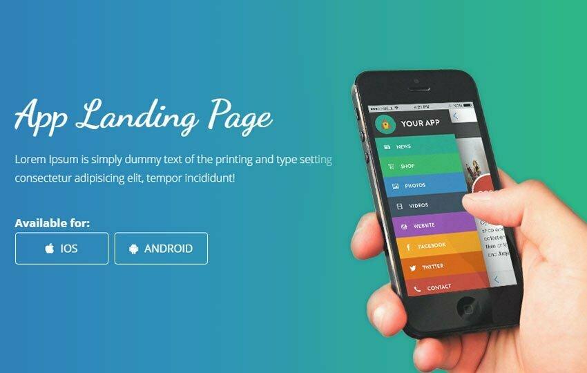 Smartnet Mobile App Landing Page Bootstrap Web Template - WebThemez - Free App Template