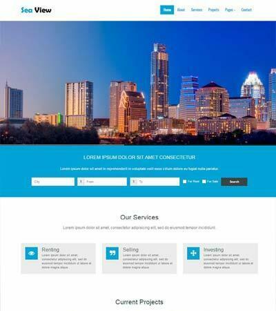 Free Bootstrap Real-estate Web Template - webthemez