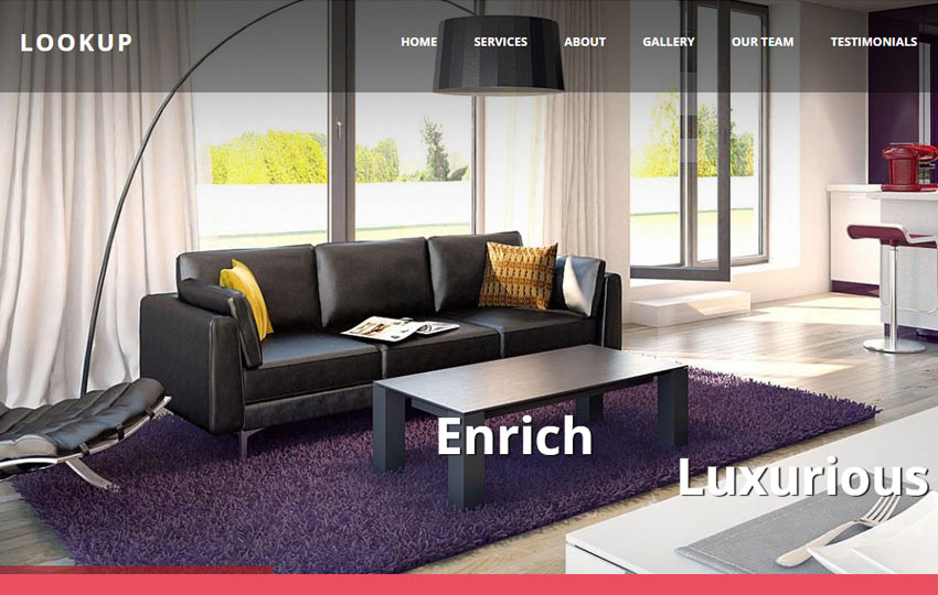 Interior Design Bootstrap Website Template For Free Download - interior design web template