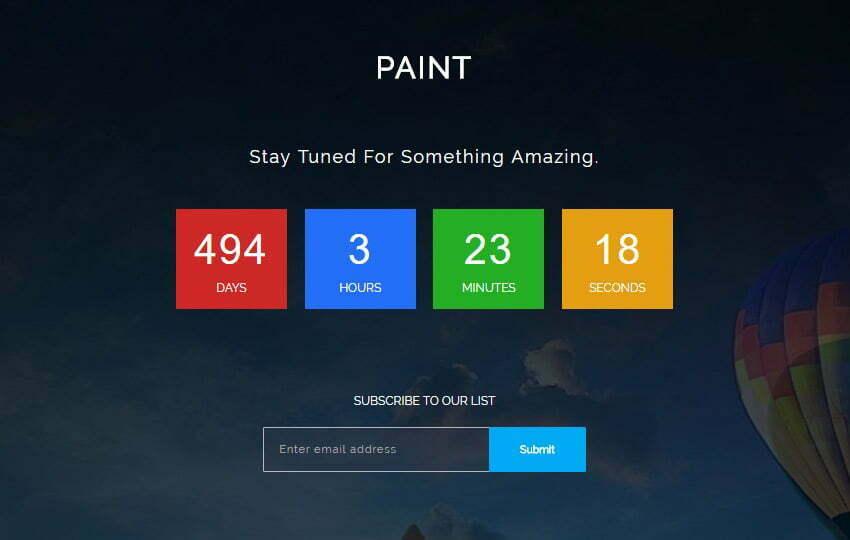 Bootstrap HTML5 Coming-soon Web Template - WebThemez