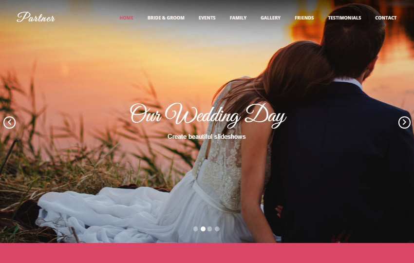 Wedding HTML Bootstrap Web Template Free Download - wedding template