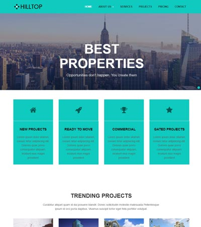 Real Estate Bootstrap Free HTML Web Template Download - WebThemez