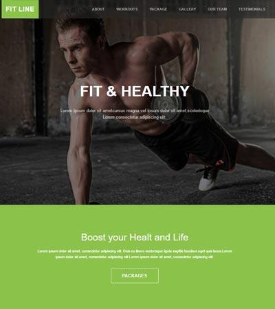 Fitness Gym Free Bootstrap Web Template - WebThemez