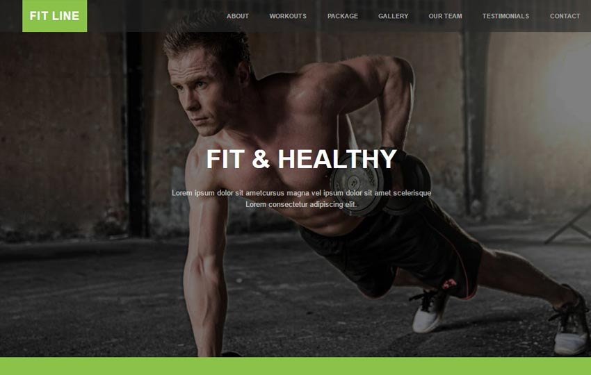 Fitness Gym Free Bootstrap Web Template - WebThemez - Fitness Templates Free