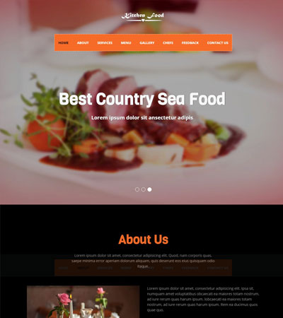 Latest Free Food Restaurant Website Templates Free Download 2019