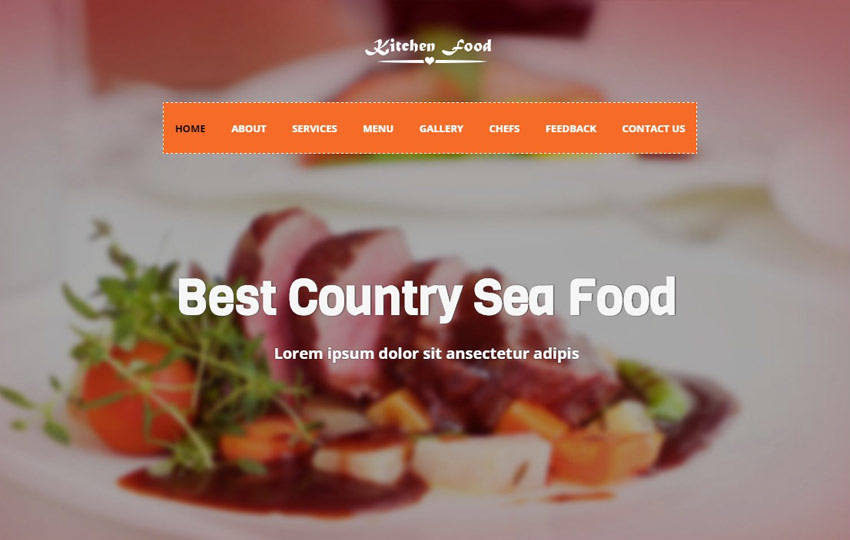 Restaurant Bootstrap 4 Website Template Free Download