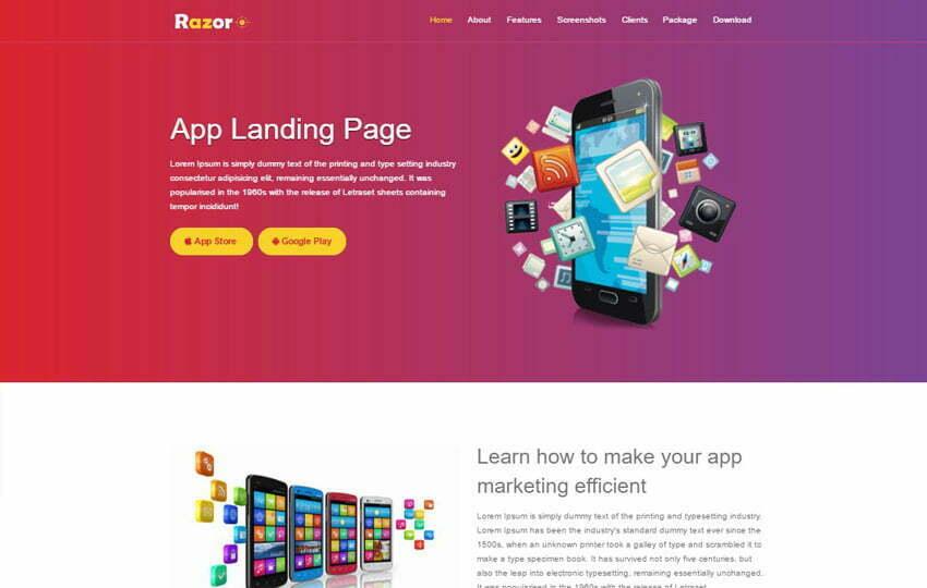 WebThemez - Landing Page Template Bootstrap Free Download