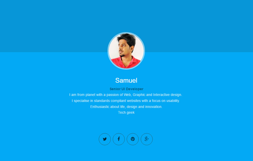 vCard Resume HTML5 Website Template Free Download