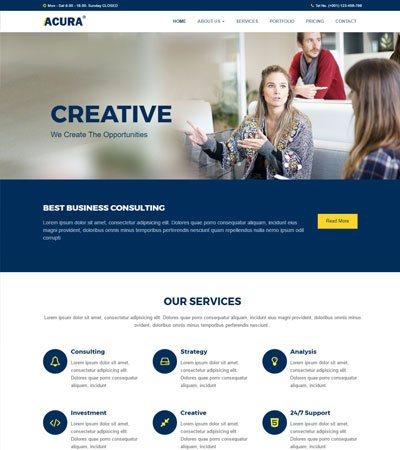 50 Best Free HTML5 Templates for Corporate Business