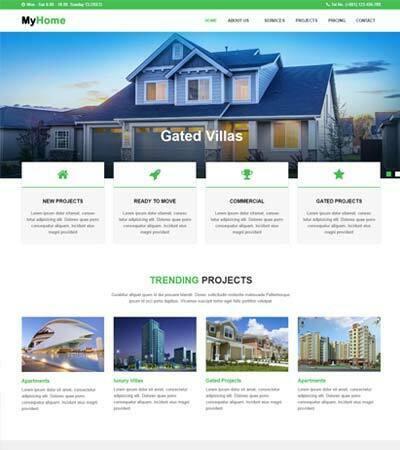 Latest Real Estate Website Templates Free Download 2019 - WebThemez