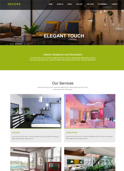 Best Interior Design Website Templates Free Download 2019 - WebThemez
