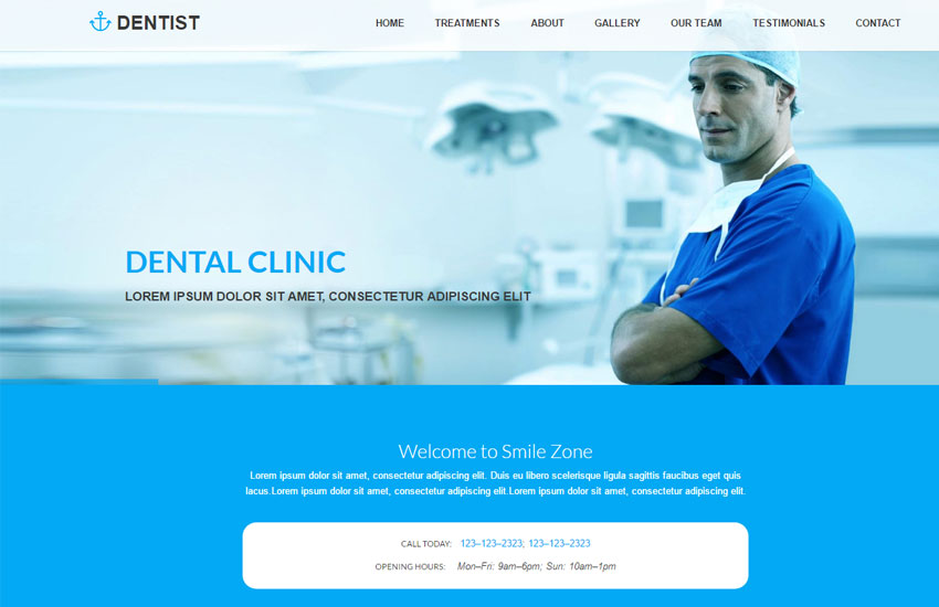 Best Dental Clinic HTML Website Template Free Download