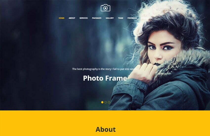 Focus Best Photography Website Template Free Download - WebThemez - free album templates
