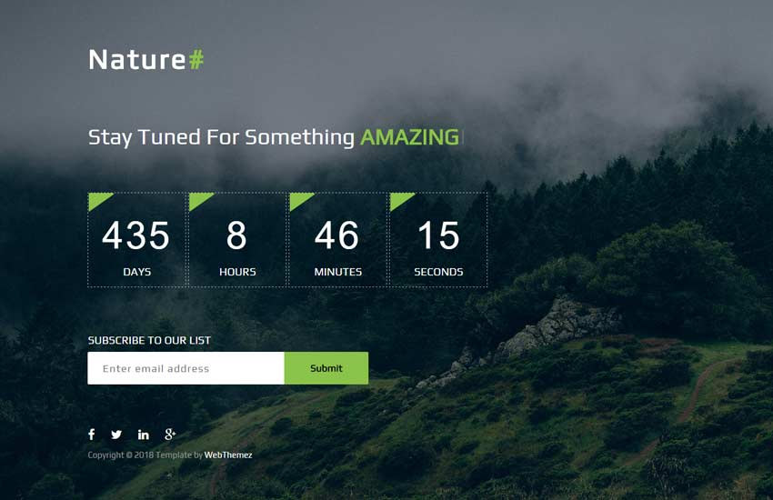 Best Coming Soon HTML Website Template Free Download