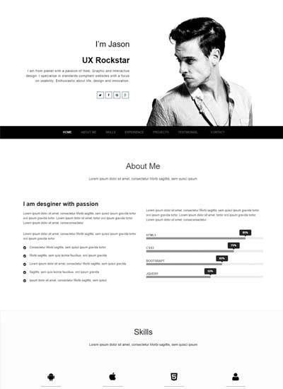 Best Free Creative Resume Template - WebThemez