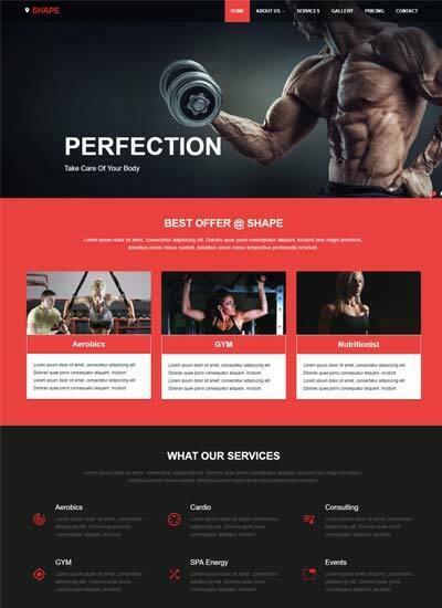 Best Sports  Fitness Website Templates Free Download - WebThemez
