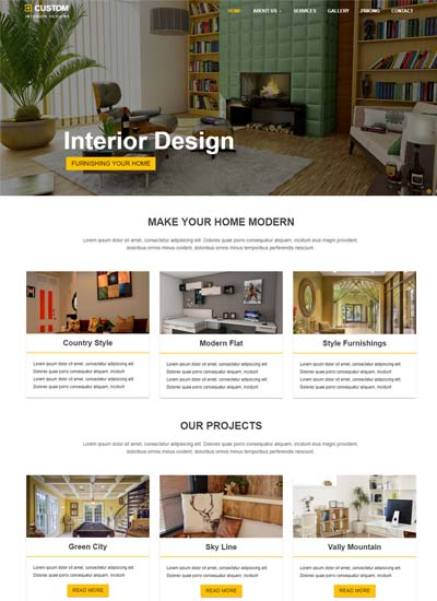 Best Interior Design Website Templates Free Download - interior design web template