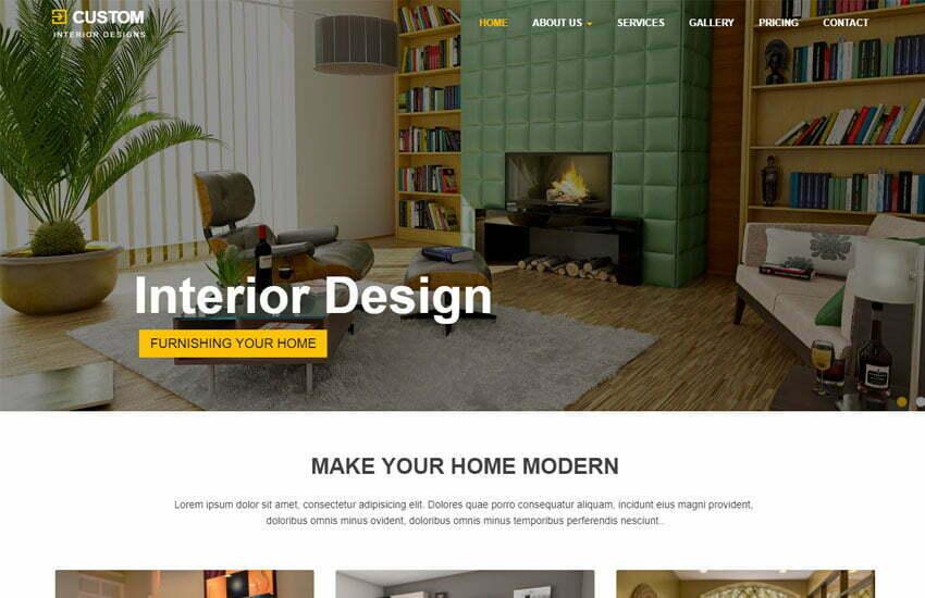Best Interior Design Website Template Free Download