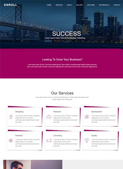 Responsive Website Templates Free Download With HTML CSS - property management websites templates