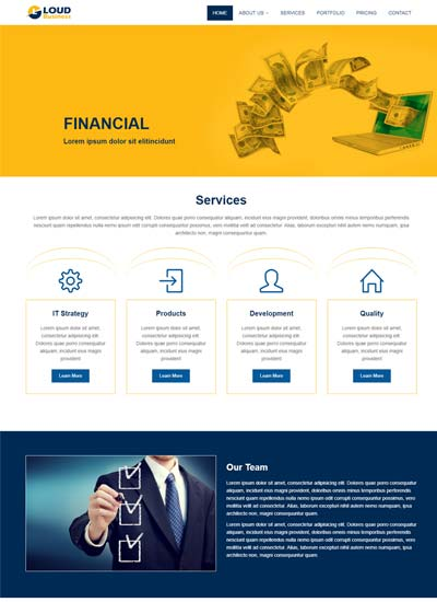 Latest Consulting Website Templates Free Download