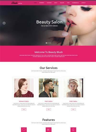Beauty Salon Responsive Website Template Free Download - template free download