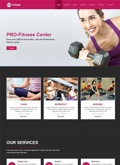 Best Sports  Fitness Website Templates Free Download - WebThemez - Fitness Templates Free
