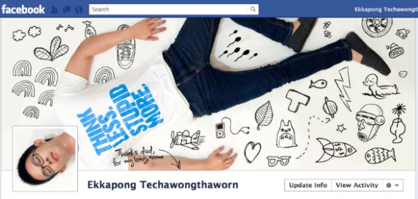 ekkapong1 40 Creative Examples of Facebook Timeline Designs