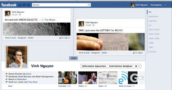 moon1 40 Creative Examples of Facebook Timeline Designs