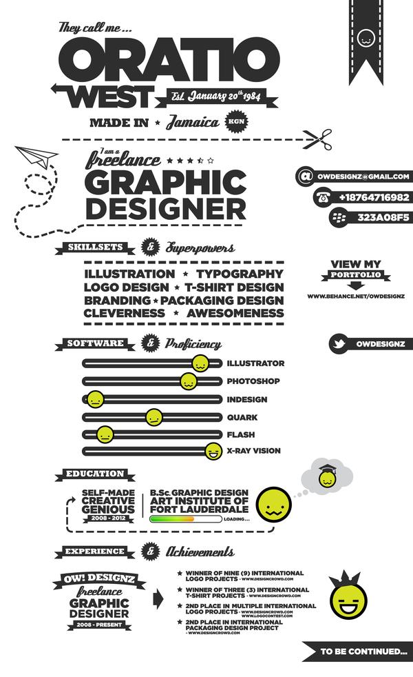 25 Examples Creative Graphic Design Resumes