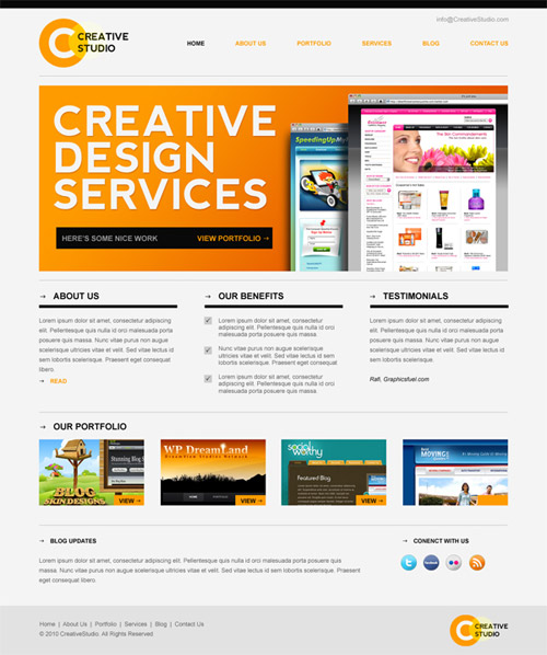 30 Free PSD Web Design Templates Inspirationfeed - Nice Templates