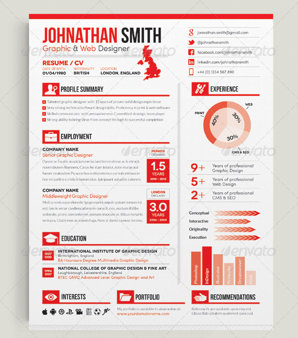 Gallery of Indesign Resume Template - resume template indesign