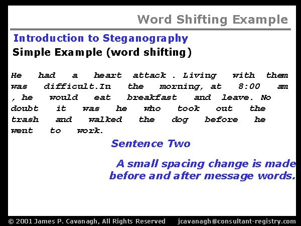 Word Shifting Example