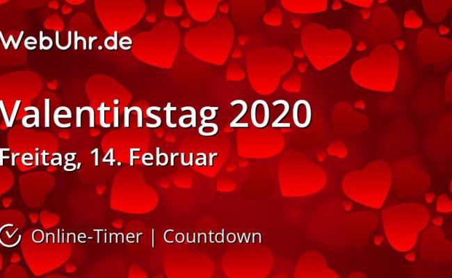 Wann Ist Valentinstag 2020 Countdown Timer Webuhr De