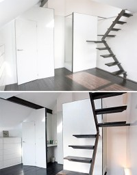 Steps to Saving Space: 15 Compact Stair Designs for Lofts ...