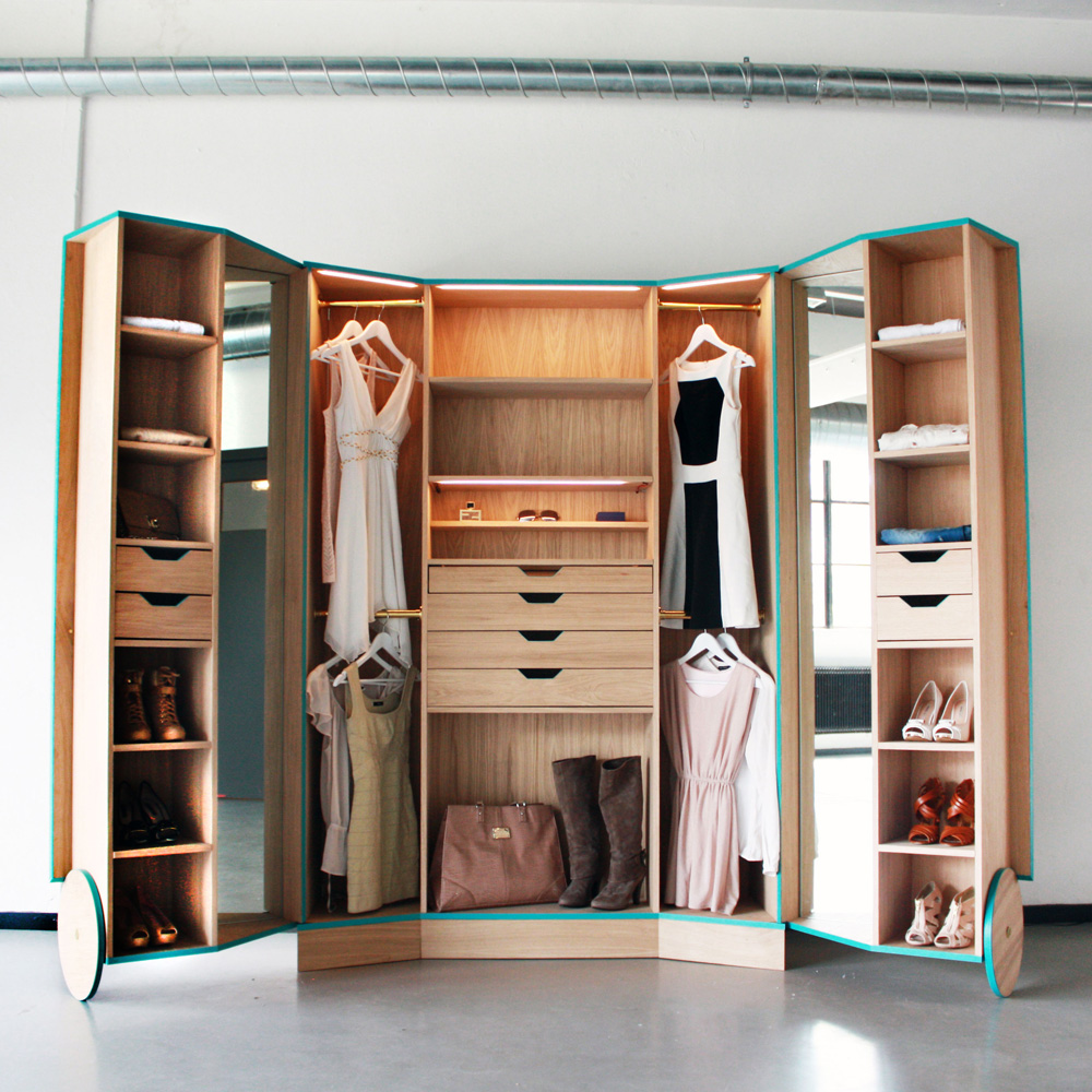 Walkin Closet Cabinets Portable Walk In Closets 14 Other Ways To Make A Studio Feel