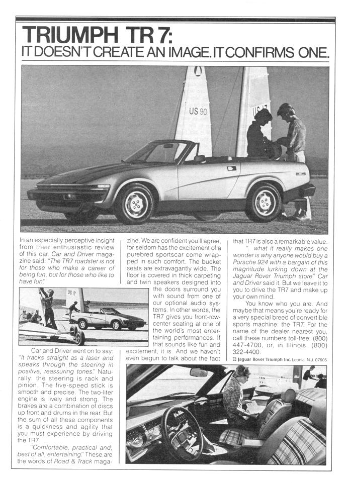 Triumph TR7  - advertisement brochure