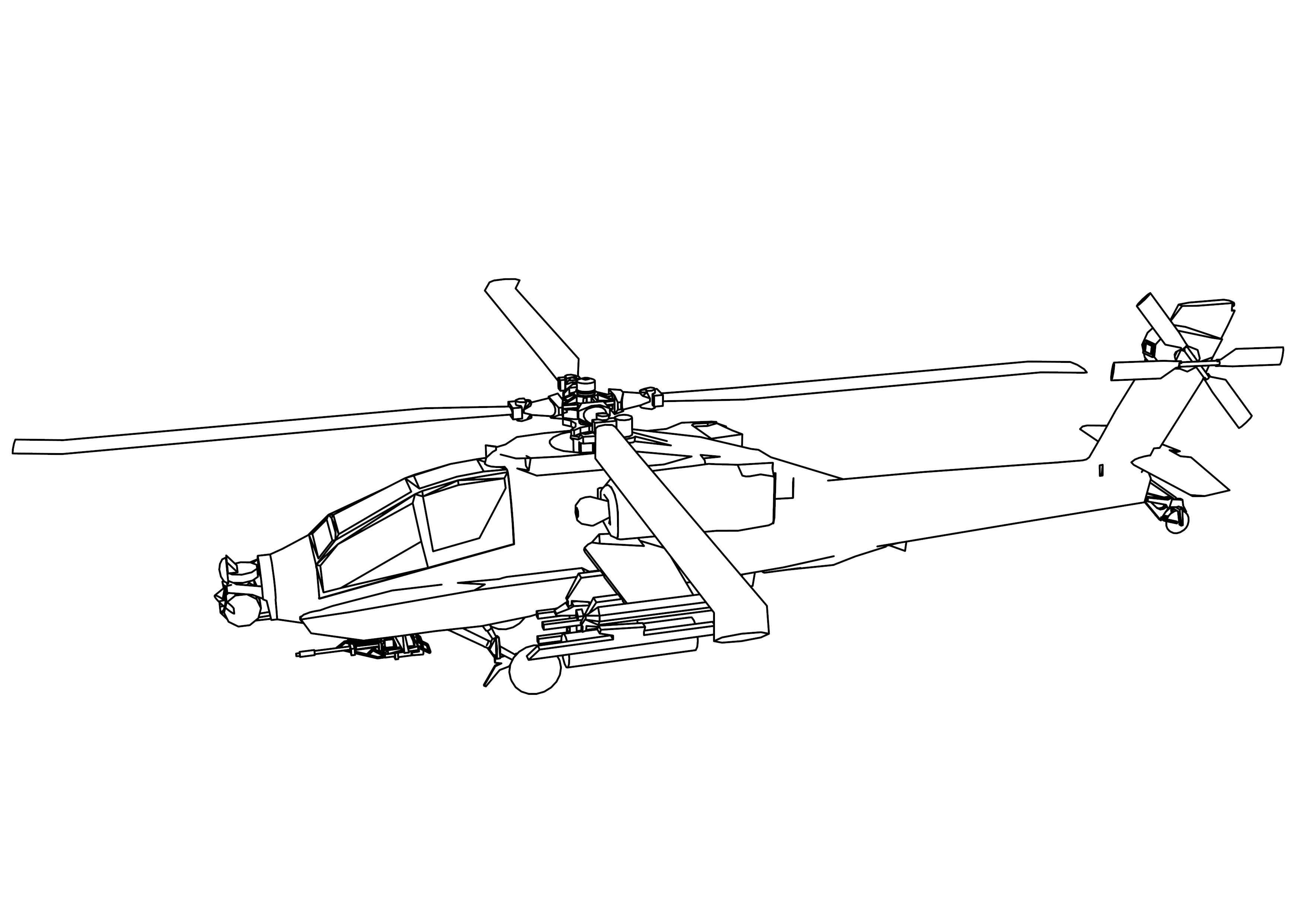 Helicopter Coloring Page - Eskayalitim