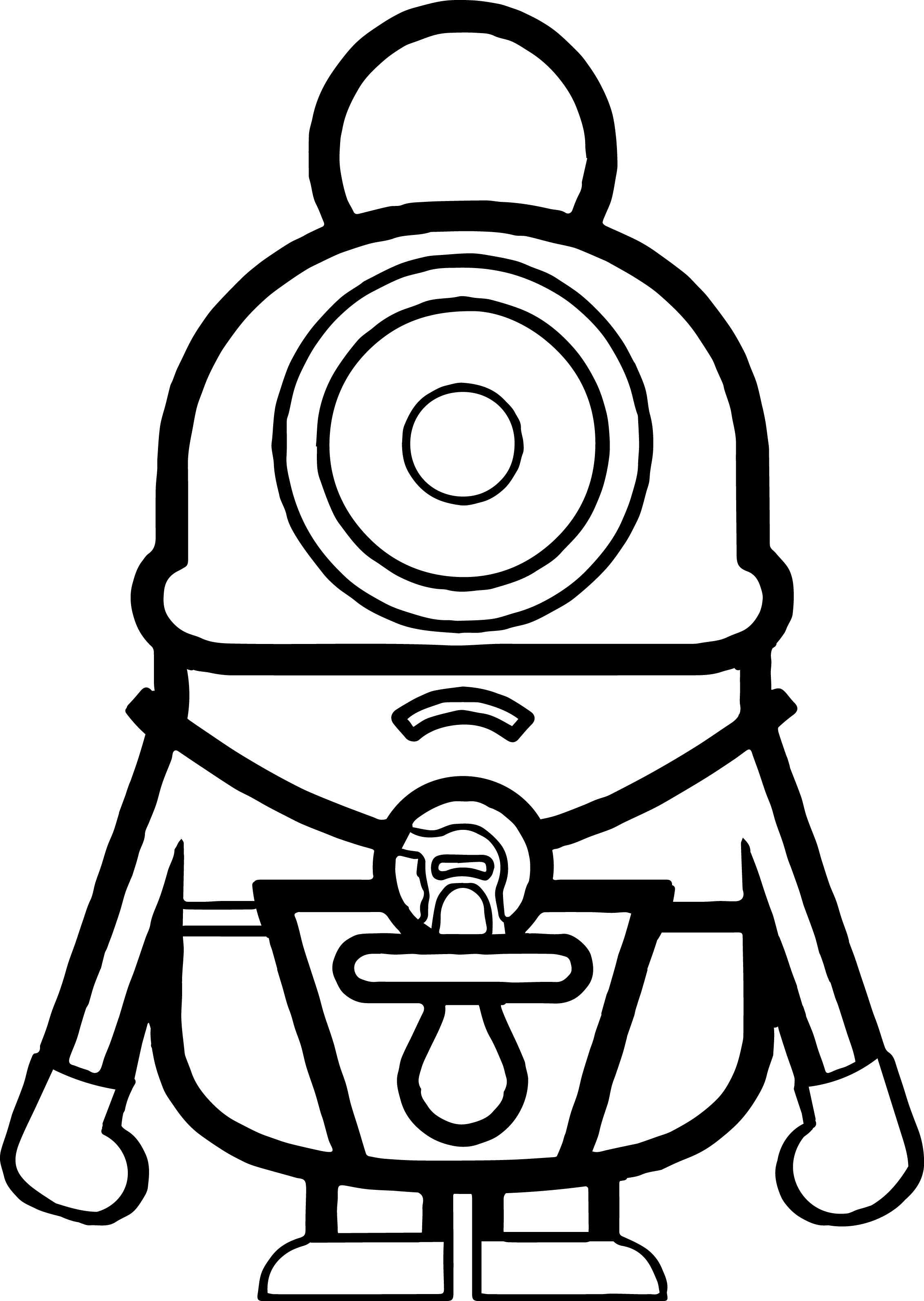 Cute Minion Coloring Pages SaveEnlarge