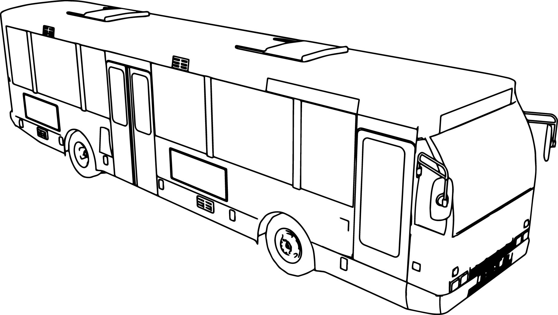 Bus Coloring Pages SaveEnlarge