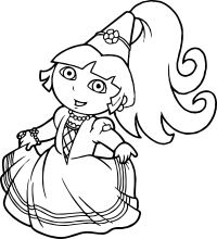 Princess Dora The Explorer Coloring Page | Wecoloringpage.com