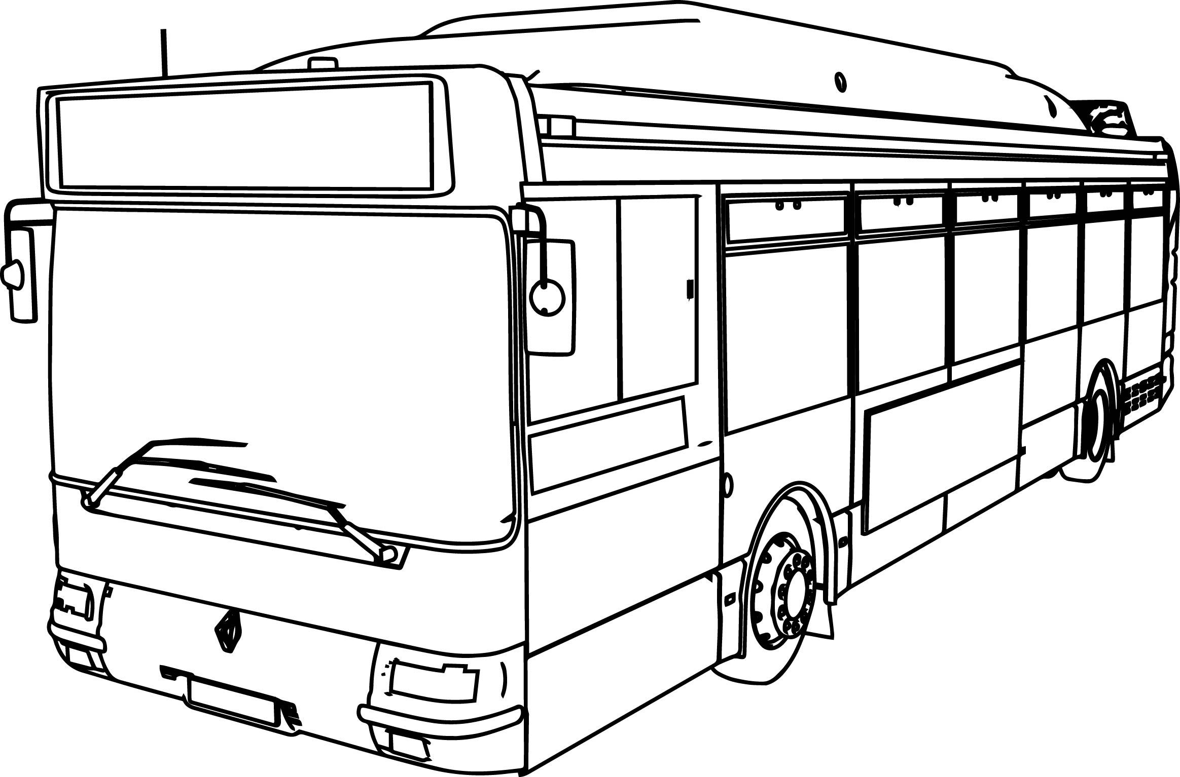 Renault Gnv Cts Bus Coloring Page Wecoloringpage SaveEnlarge