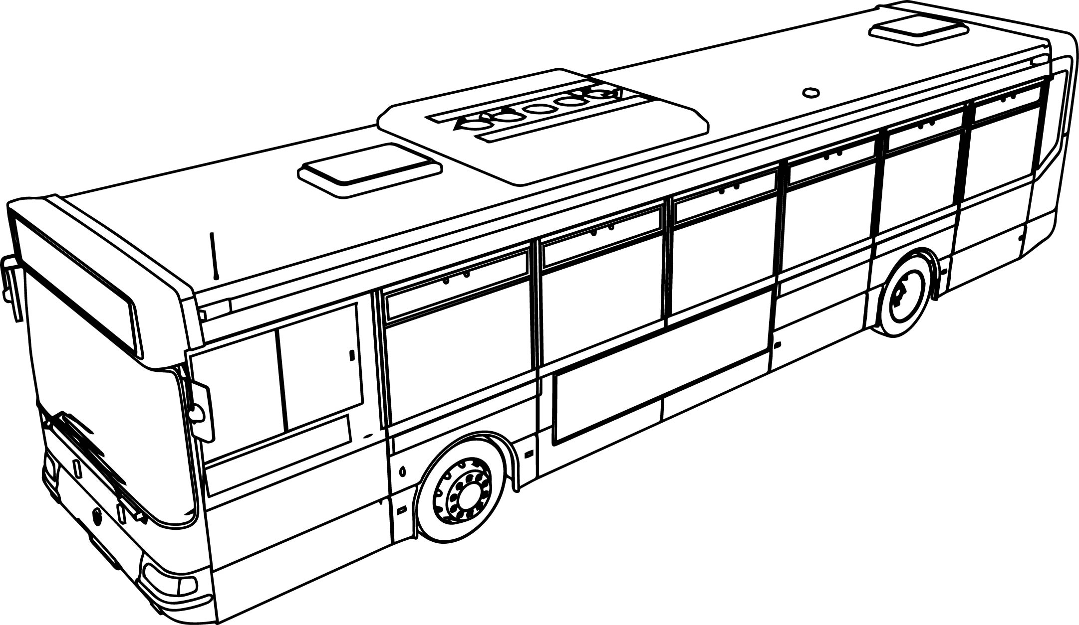 Coloring Pages Of Bus
