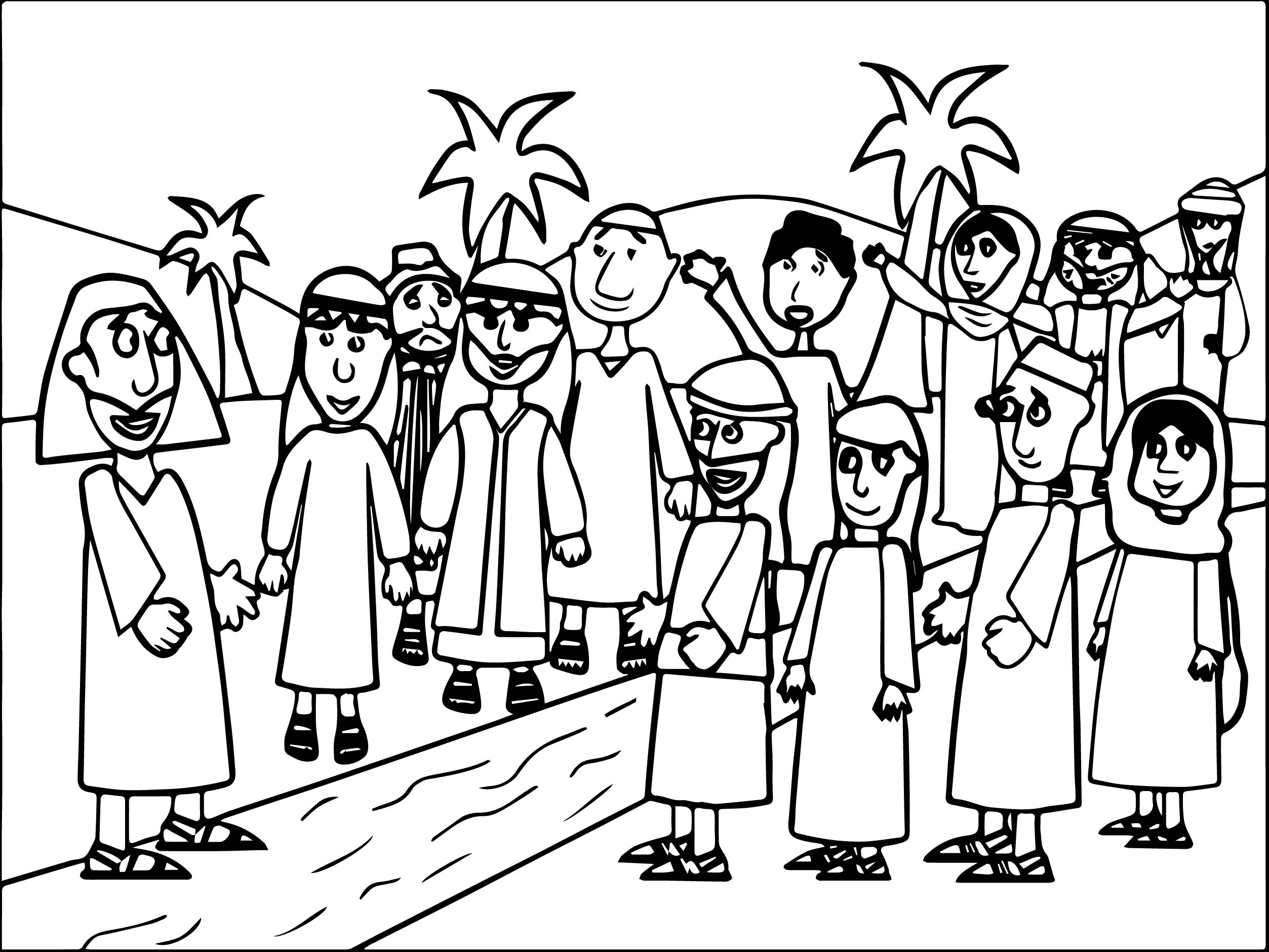 Coloring pages zacchaeus -  Zacchaeus Jesus Coloring Pages Download