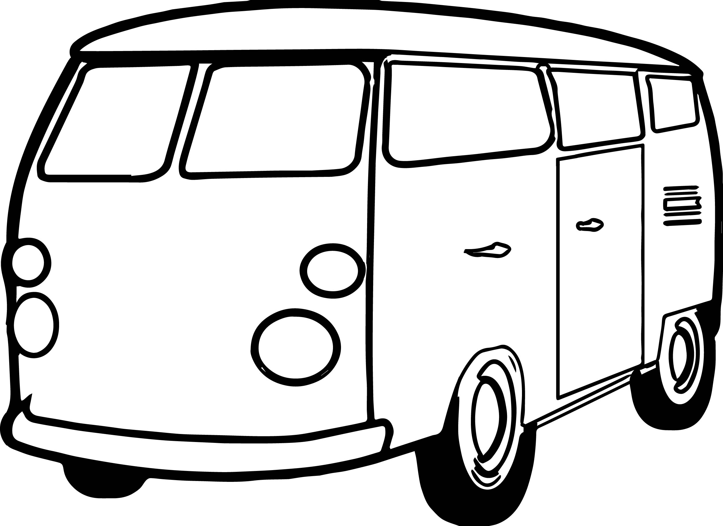 Classic Van Coloring Page Coloringcrewcom