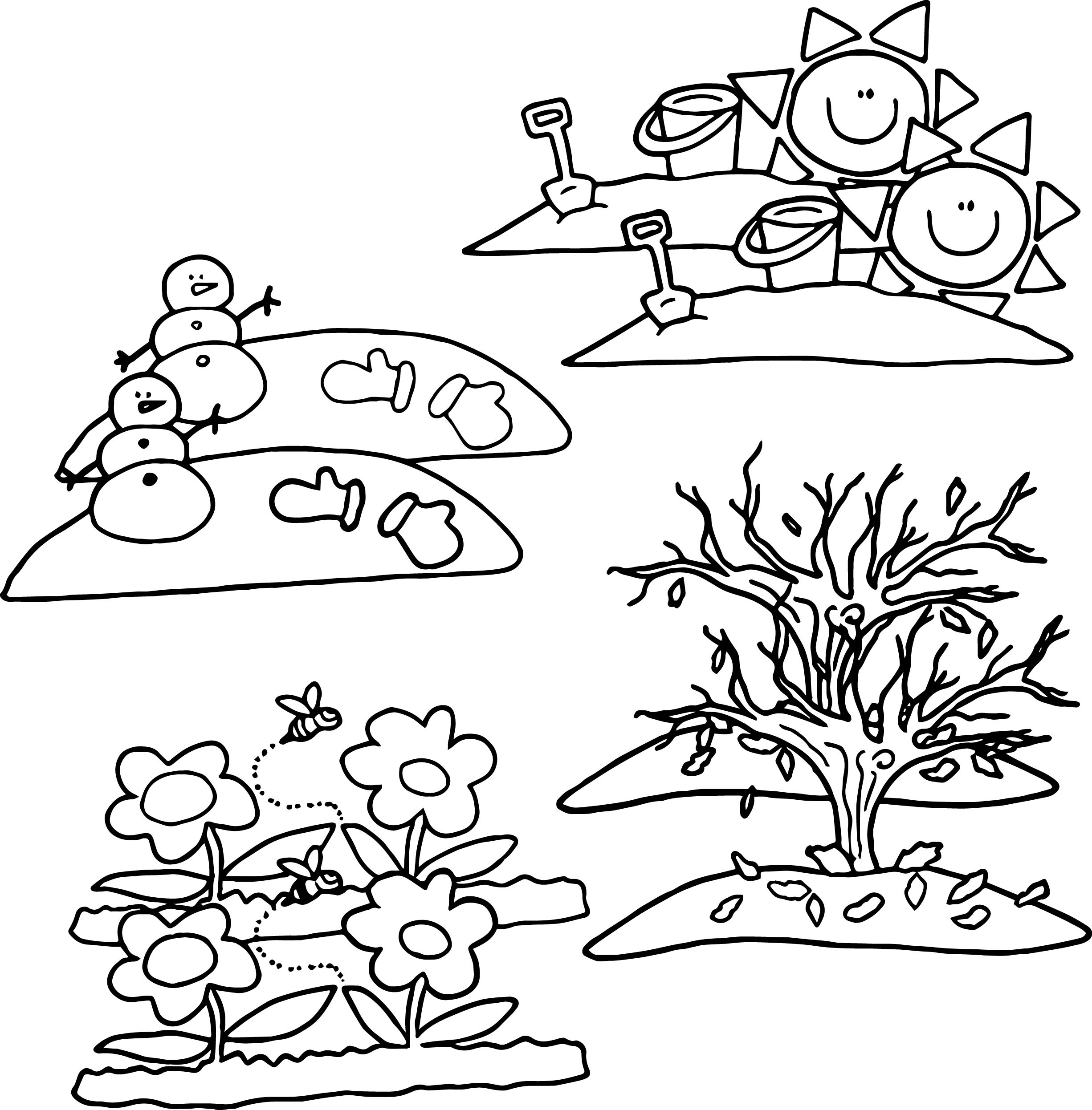 Coloring pages 4 wheeler -  Wheeler 4 Seasons Cartoon Coloring Page Download