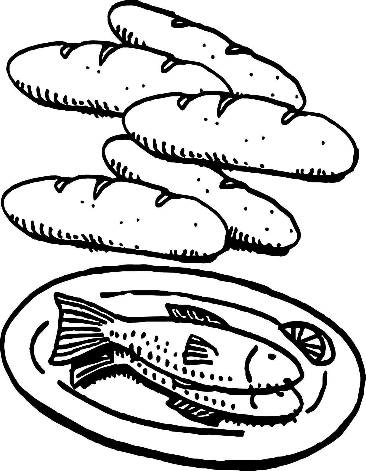 Loaf Clipart Black And White 5 Bread Coloring Pages Coloring Pages