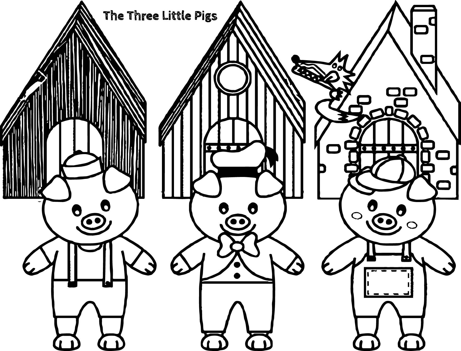 three little pigs coloring pages democraciaejustica