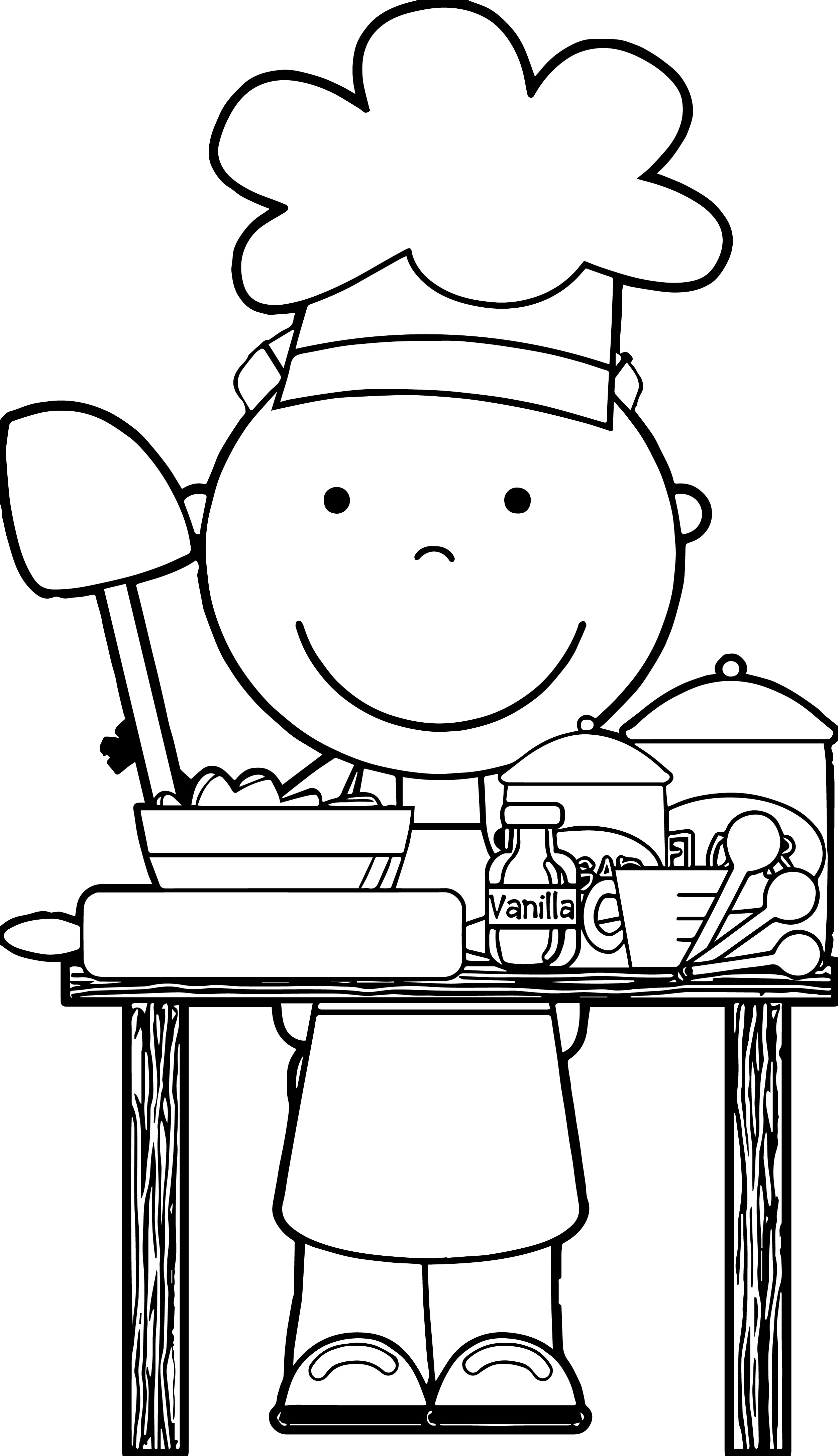 Coloring pages kitchen